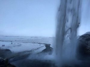 Seljalandsfoss in south Iceland is 60 metres or 200 feethellip
