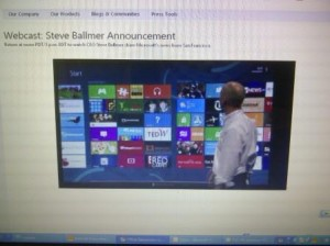 Steve Ballmer Webcast on newOffice Office 15