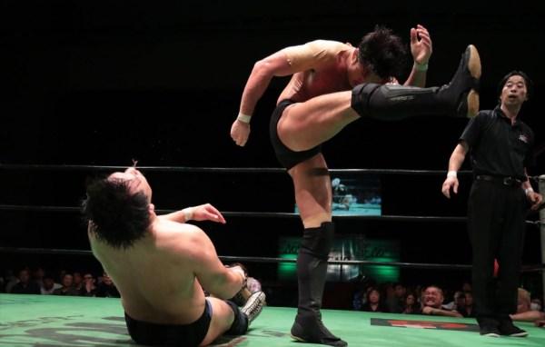 NOAHvsNJPW スペシャルシングルマッチ 柴田勝頼vs潮崎豪