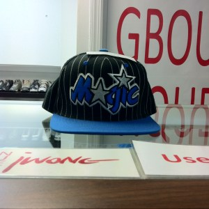 Mitchelle&Ness Magic Royal Blue Black White Stripe