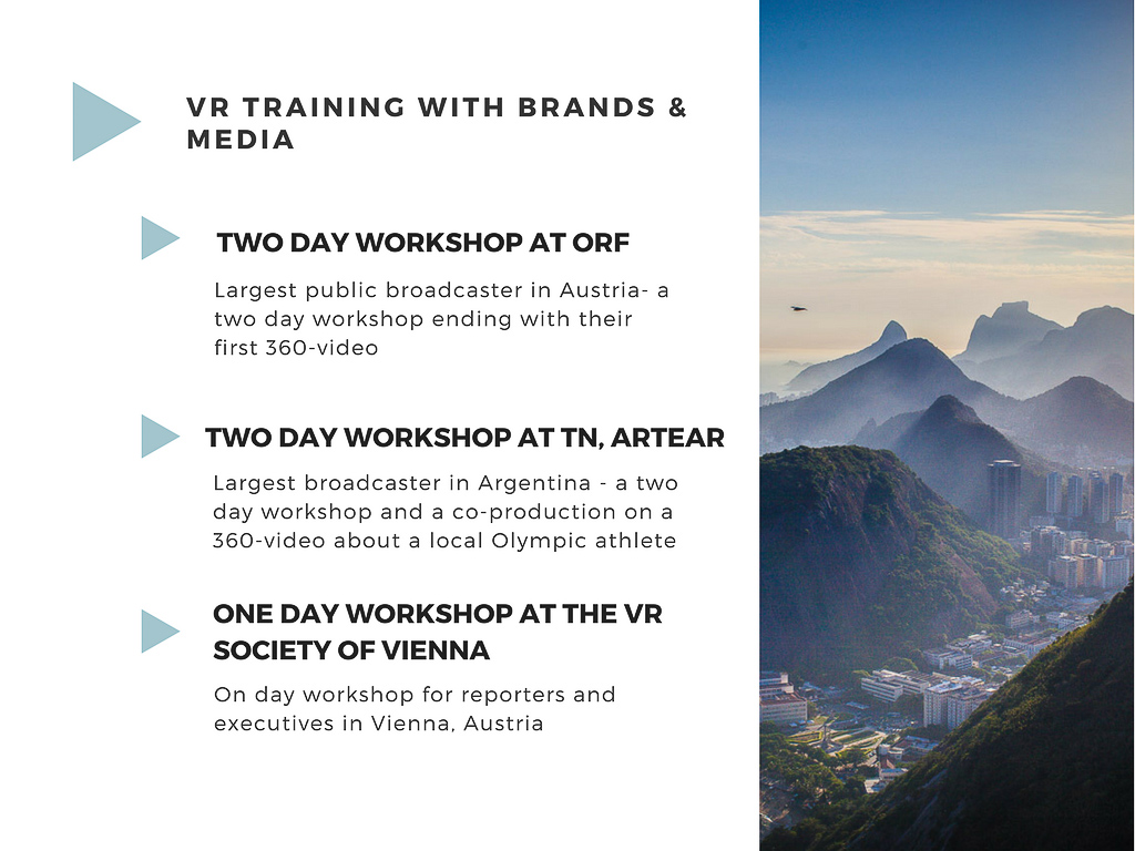 Virtual Reality Production Studio JYC VR Training Workshop