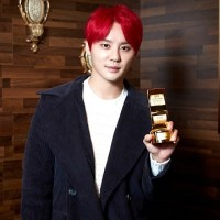 [TRANS] 160118 The 11th Golden Ticket Awards, one of the leading people of honor who shined onstage in 2015 - Kim Junsu