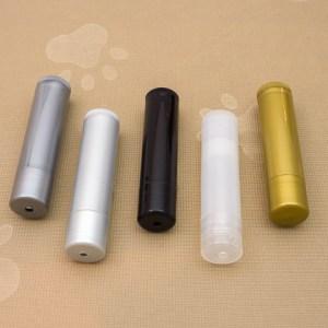 Lip Balm Tubes Dark Silver, Light Silver, Black, Clear and Gold.