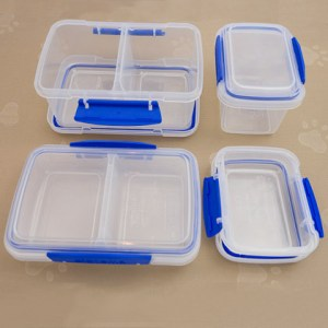 Four sizes of Snap Tight Containers
