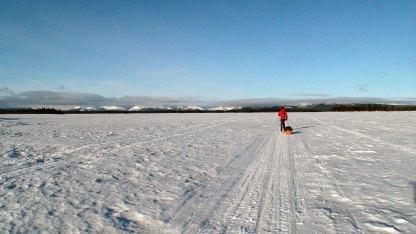 Over den østlige delen av Karatssjøen.