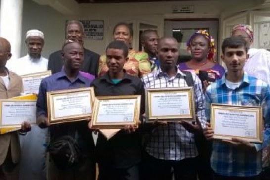 Prix du Baccalauréat 2016: cinq lauréats reçoivent chacun 2.500.000 GNF