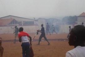 Kindia : Une manifestation contre le  délestage électrique fait des blessés