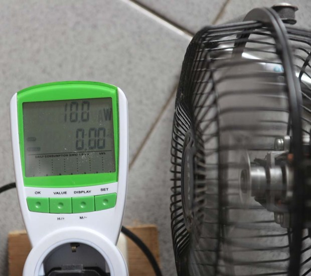 Pengukuran daya kecepatan rendah pada 206 volt