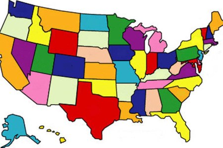 pics photos 50 states blank map game