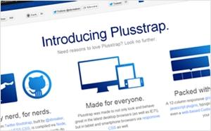 Twitter Bootstrapから派生したWeb制作向けフレームワーク・Plusstrap