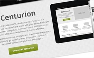SASSを使用したレスポンシブWebデザイン対応のCSSフレームワーク・Centurion