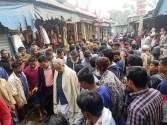 কচুয়ার সাচার বাজারে ভয়াবহ অগ্নিকান্ডে ৩০ টি দোকান পুড়ে ছাই