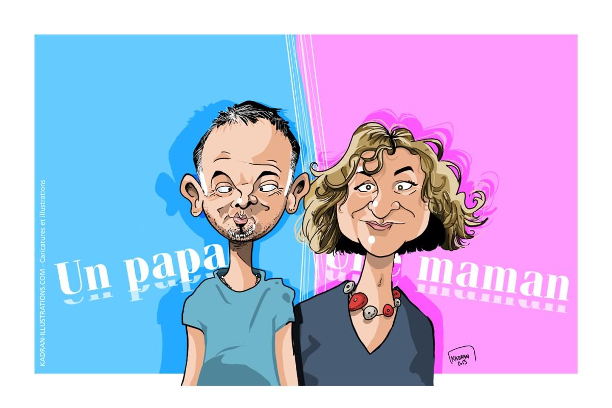 Un papa, une maman,... Offrez une caricature à vos proches !