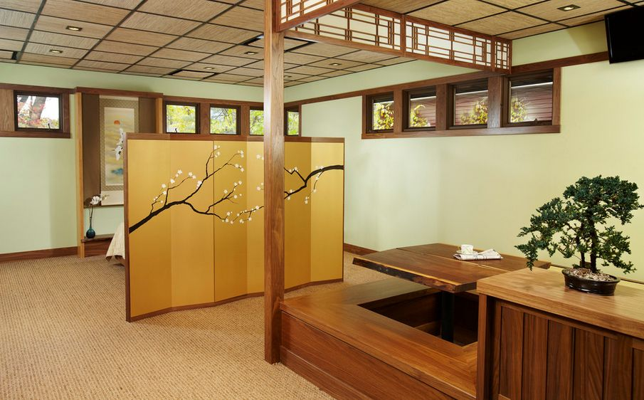 Japanese style dining tables with interior design identity for Japanese dining room decorating ideas