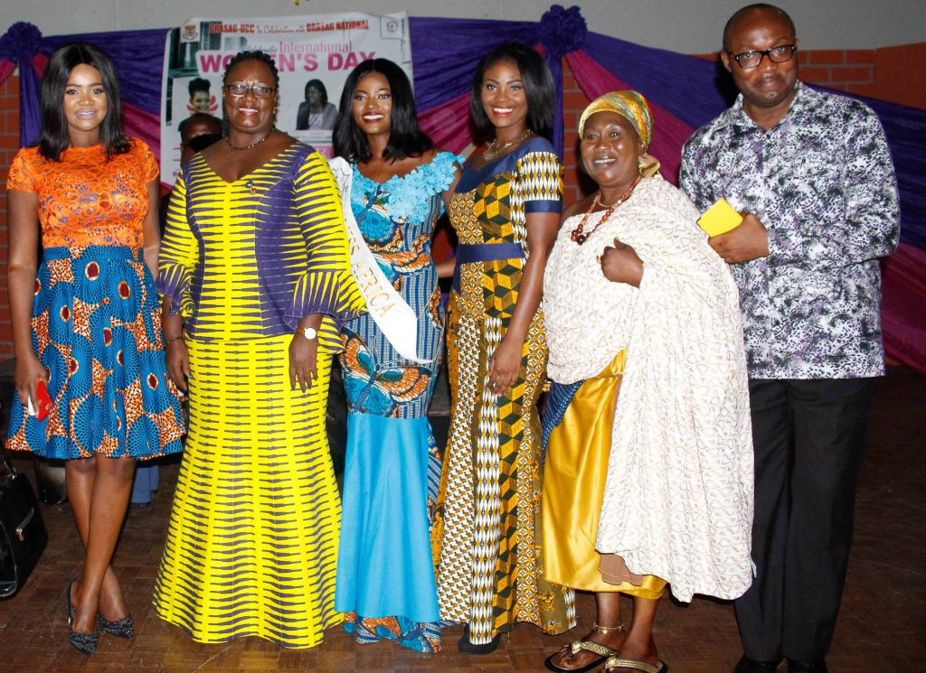 From left to right, Humble self, Professor Dora Edu-Quandoh, Rebecca Asamoah Miss Africa 2016, Delali Kemavor Miss Ghana 2015, A Queen Mother, and A Lecturer from UCC