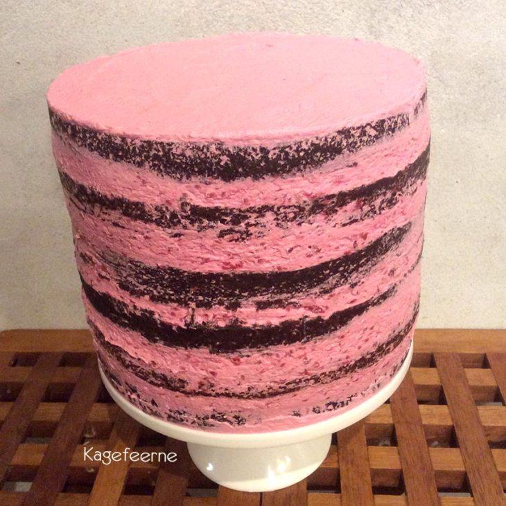 Tung chokoladekage med hindbær IMBC