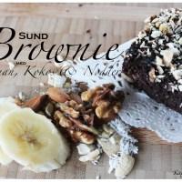 Sund Brownie med Banan, Kokos & Nødder