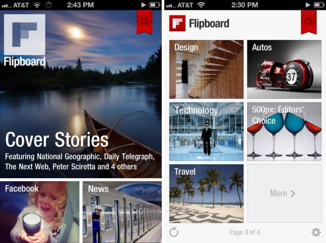 Flipboard iPhone'il