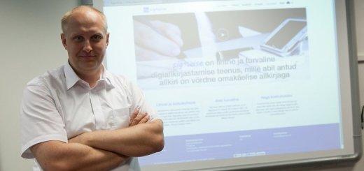 Tiit Anmann Signwise tegevjuht. Foto: Eero Vabamägi