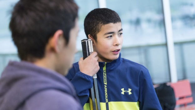 Aito Iguchi, a 14-year-old Japanese hockey prodigy who is being wooed by academies in Canada, at a practice game in Tokyo, Nov. 27, 2017. Hockey's profile is rising in Asia with the Winter Olympics in South Korea next week and in China in 2022, and several of Japan's top teenage players have their eye on North America. (Ko Sasaki/The New York Times)