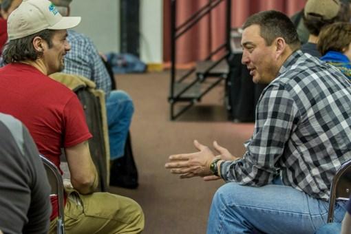 Hugh Neff and John Baker talk shop