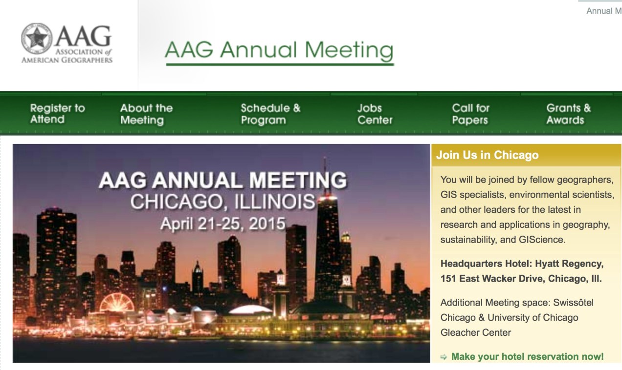 Association of American Geographers' Annual Meeting 2015