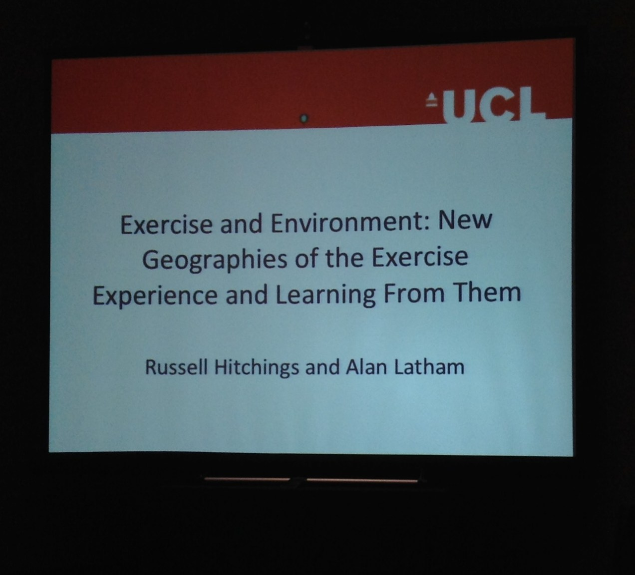 Exercise and Environment by Drs Russell Hitchings and Alan Latham