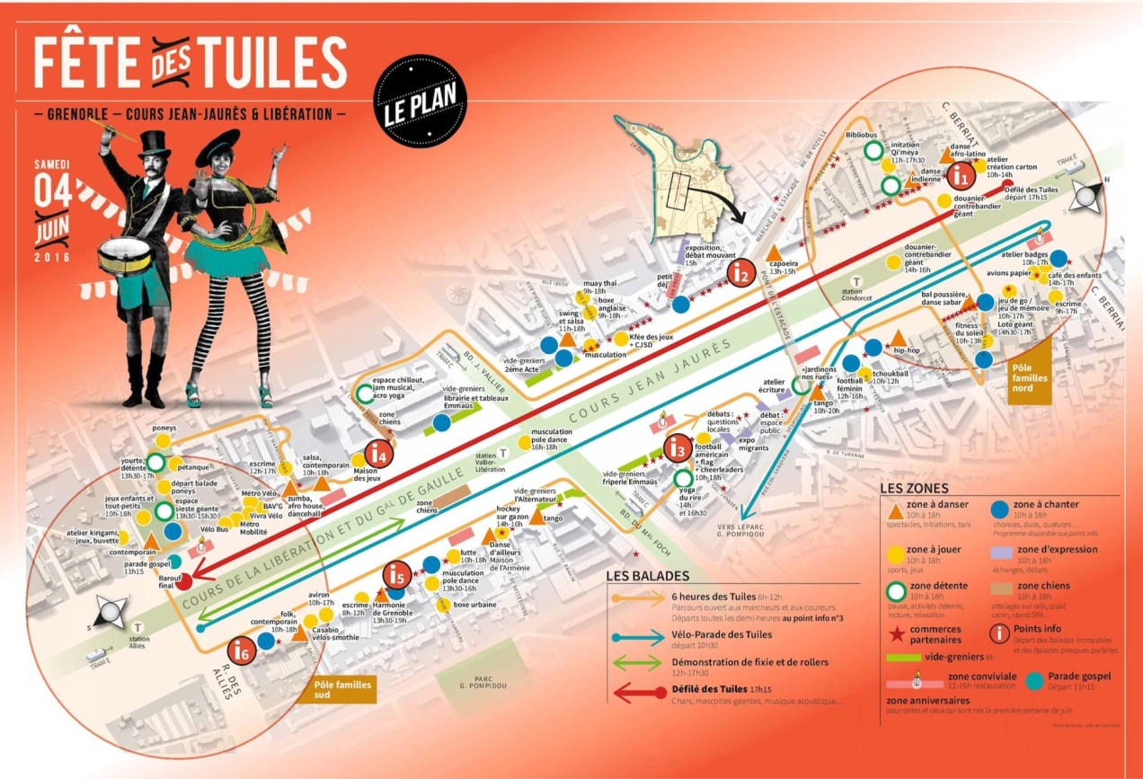 Fete Des Tuiles 2016 map