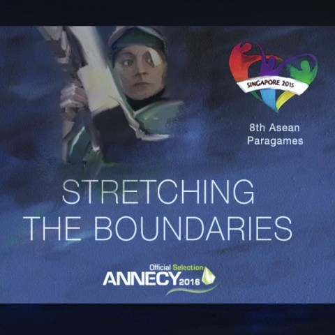 Stretching the boundaries, a rotoscope animation by the acclaimed Kleopatra Korai, in the official selection of the renowned Annecy International Festival of Animation, commissioned for and premiered at the 8th ASEAN Para Games.