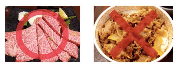 焼肉と牛丼