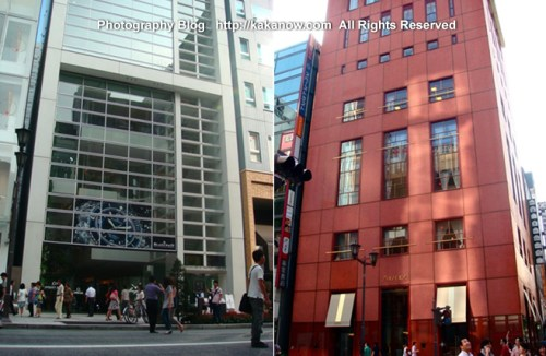 Shiseido Headquarters building at Ginza shopping street in Tokyo, Japan. Summer Tour in Japan, Photo by KaKa.