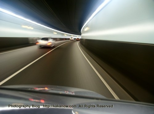 Cross-Harbour Tunnel in Amsterdam, Netherlands travel. Photo by kaka.