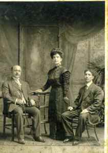 Naoum Mokarzel, his wife Rose, and her brother Asad. ca. 1911