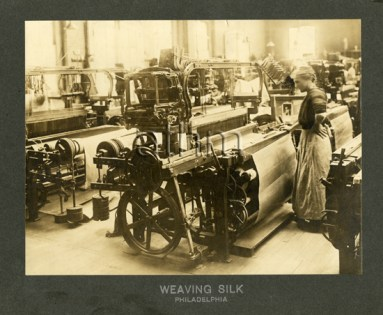 Silk weaving in Pennsylvania, early 1900s.
