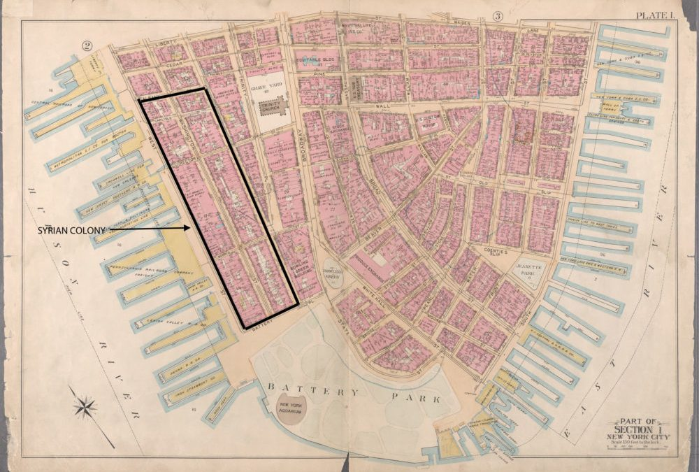 "THE SYRIAN COLONY ON WASHINGTON STREET  and the ""Lost"" Lower West Side"