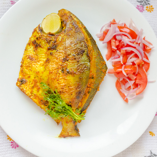 Stuffed Pomfret