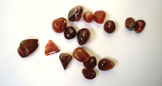 Sard and Carnelian Pebbles