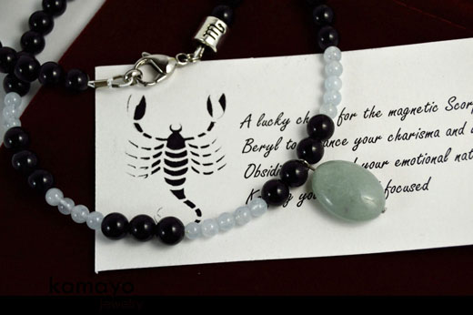 Scorpio Necklace - Beryl Pendant
