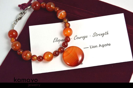 Lion Agate Bracelet