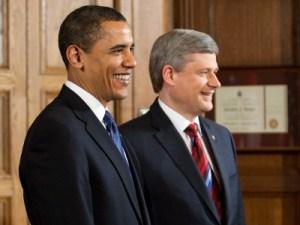 Barack Obama és Stephen Harper Ottawában