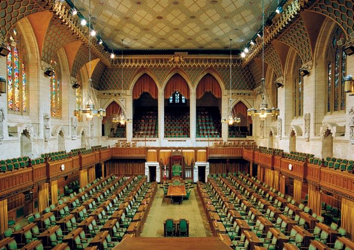 A kanadai parlament Ottawában.