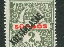 Magyar bélyeg 1918-ból.