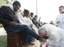 Ferenc pápa Húsvétkor.