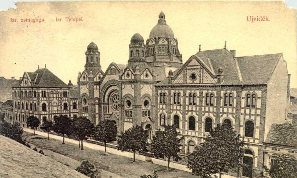 Az újvidéki zsinagóga egy régi képeslapon.