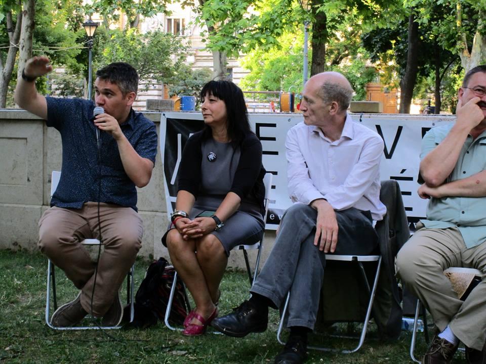 Balról jobbra: Christopher Adam, Garai-Édler Eszter, Gerlóczy Ferenc és Novák József. Fotó: Bassa László.