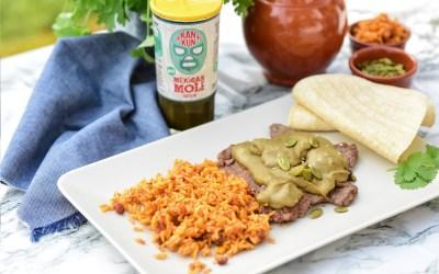Pork with Kankun Green Mole