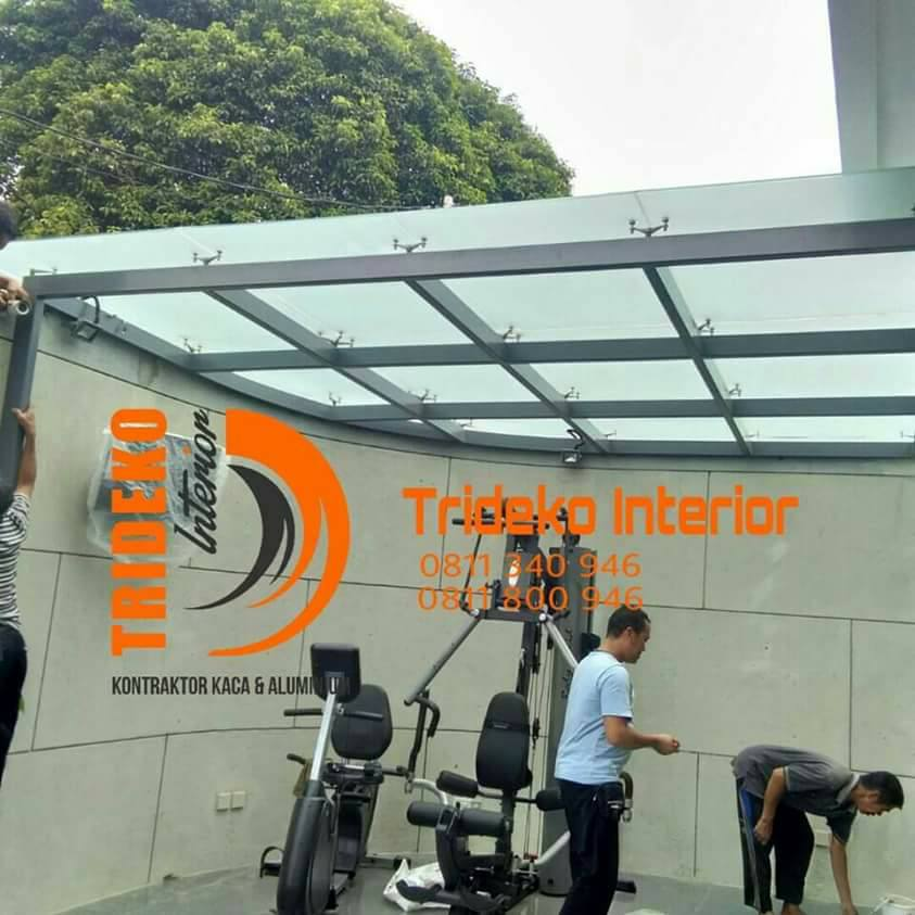 Project Kanopi Kaca 10 mm Sunblast Spider Fitting Bintaro