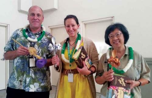 Winners of the International Desserts Cook-Off: (from left) Alex Parisky, Alexandra Mayo Otis and Ingelica White – Tammy Pratt