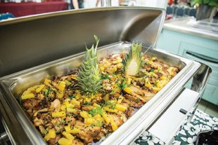 Teriyaki chicken with pineapple chunks presented at the 'Uala Leaf Cafe grand opening – Courtesy Carolynn Yamada