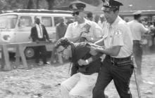 In 1963, Bernie Sanders was arrested while protesting racial segregation in Chicago – Courtesy of the Chicago Tribune